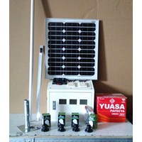 Distributor Paket Solar Panel / Solar Cell (Solar Home System) 50 WP 3