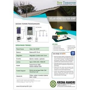 Paket Solar Panel / Solar Cell (Solar Home System) 50 WP