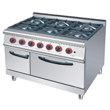 GAS LOW RANGE 6 BURNER WITH OVEN (RQ 6)