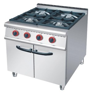 GAS LOW RANGE 4 BURNER WITH CABINET (RA 4)