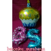 Balon Foil Cupcake Happy Birthday