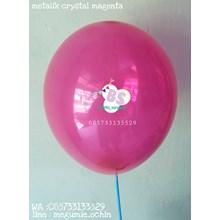 Balon Latex Premium Dekorasi Warna Magenta Crystal
