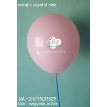 Balon Latex Premium Dekorasi Warna Pink Crystal