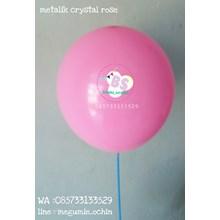 Balon Latex Premium Dekorasi Warna Pink Rose Crystal