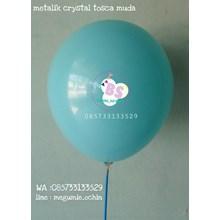 Balon Latex Premium Dekorasi Warna Tosca Muda Crystal