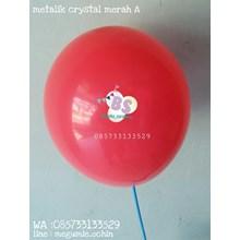 Balon Latex Premium Dekorasi Warna Merah A Crystal