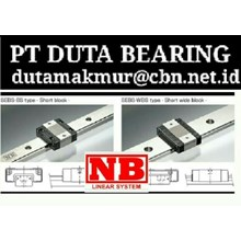 NB BALL SCREWS LINEARS ACTUATOR MOTOR PT DUTA BEARING NB BALL BEARING LINEAR GUIDE WAY