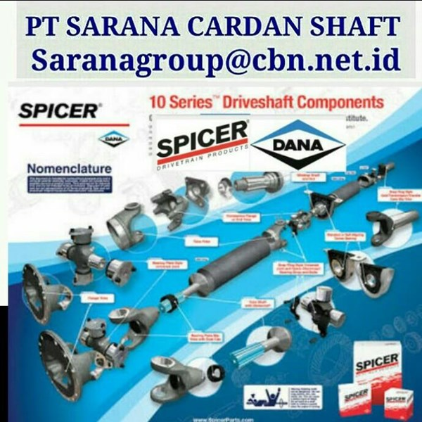 DANA SPICER HIGH PERFOMANCE TURBO UNIVERSAL JOINT DRIVE CARDAN SHAFTS PT SARANA GARDAN - DANA SPICER JOINTS SHAFT CROSS JOINT FLANGE YOKE