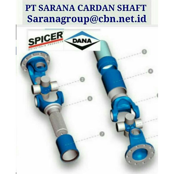 HARDY SPICER  DRIVE CARDAN SHAFT PT SARANA GARDAN - HARDY SPICER  JOINT SHAFT CROSS JOINT FLANGE YOKE DANA