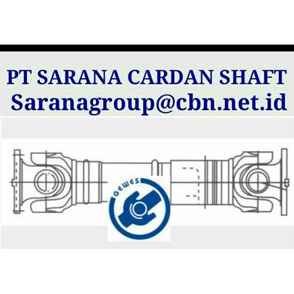 GEWES DRIVE CARDAN SHAFT PT SARANA GARDAN - GEWES  JOINT SHAFT CROSS JOINT FLANGE YOKE GEWES DRIVES JOINT