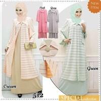 Baju Muslim Motif Garis Garis Type 512