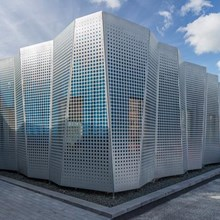 Perforated facade wall panel