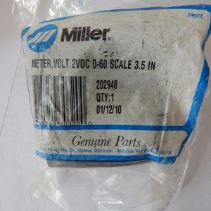 Miller Meter Volt 2V DC 202948 0-60 Scale 3-5 IN