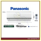 AC Air Conditioner Panasonic Standard Inverter 1.5PK (CS-PS12NKP) 1