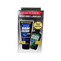 Pembersih Mobil Unelco Glass Science Combo Pack (Rain Clear Gel & Glass Scrub)