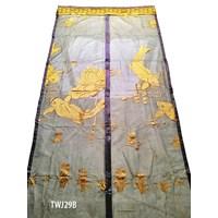 Tirai Magnet Coklat Gold Emas Motif Ikan Koi TWJ29B