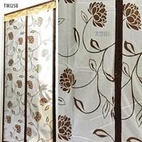 Tirai Magnet Taiwan Coklat Batik Bunga TWJ25B