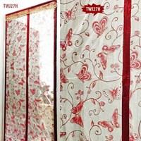 Tirai Magnet Taiwan Merah Marun Batik Kupu Kupu TWJ27H
