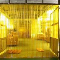 pvc curtain yellow 1