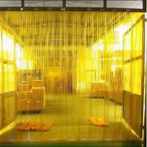 pvc curtain yellow