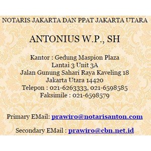 Jasa Notaris PPAT By CV. ANTONIUS W.P., SH