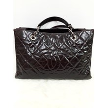 Chanel GST Nylon Quilted in Red Wine