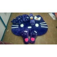 Jual Karpet Set Karakter Hello Kitty Warna Biru