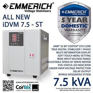 Stabilizer Emmerich All New Idvm 7.5-St  7500 Va / 7.5 Kva