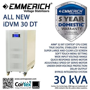 All New Emmerich Idvm 30-Dt. Stabilizer Listrik 30 Kva Satu Phase