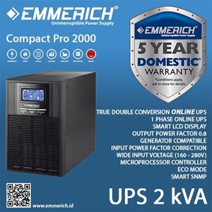 Ups Online Emmerich - Compact Pro 2000 - 2 Kva - Ups Single Phase