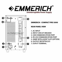 Beli Online Ups Emmerich - Compact Pro 3000 - 3 Kva - Ups Satu Phase 4