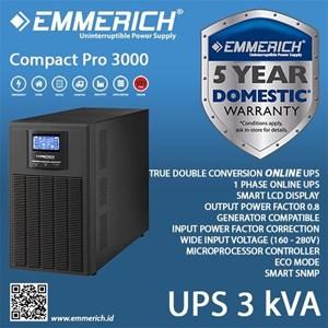 Online Ups Emmerich - Compact Pro 3000 - 3 Kva - Ups Satu Phase