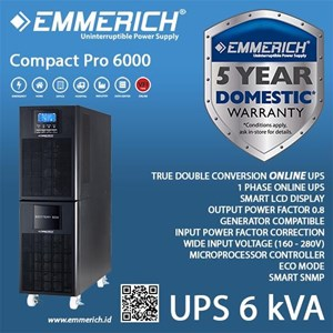 Ups Online Emmerich - Compact Pro 6000 - 6 Kva - Ups Single Phase