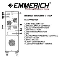 Beli Online Ups Emmerich Master Pro 6 Kva - Built In Isolation Ups Transformer 4