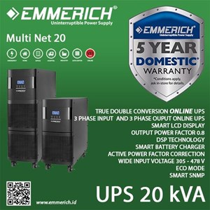 Online Ups Emmerich 3 Phase 20 Kva - Multi Net 20