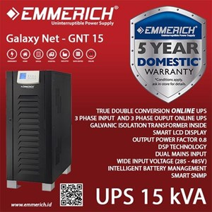 Online Ups Emmerich 3 Phase 15 Kva - Galaxy Net - Gnt 15