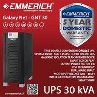 Online Ups Industrial Type - Ups Emmerich 3 Phase 30 Kva - Galaxy Net - Gnt 30 1