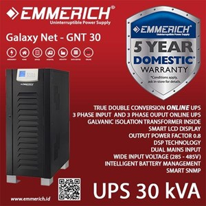 Online Ups Industrial Type - Ups Emmerich 3 Phase 30 Kva - Galaxy Net - Gnt 30