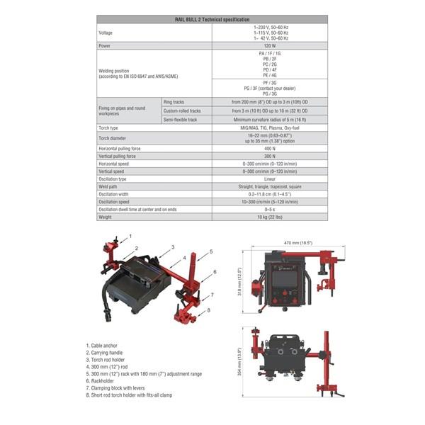 Mesin Las Welding carriage Promotech Rail Bull (All position)