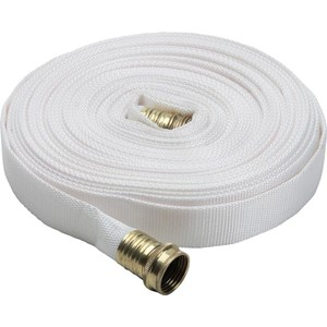 fire hose canvas single rubber white