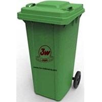 3W DUSTBIN 120 liter (GREEN) / (BLUE)