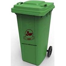 3W DUSTBIN 120 liter (GREEN) / (BLUE)