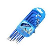 9 pc torx key set T10. T15. T20. T25. T27. T30. T40. T45. T50