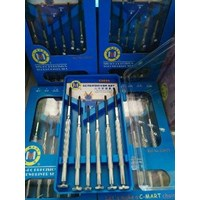 Obeng 6 pcs screwdriver set #0. #1. (1.4-2.0-2.4-3.0) mm