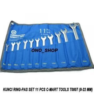 Kunci Pas 11-pc combination wrench set ( 8.9.10.11.12.13.14.15.17.19.22mm )