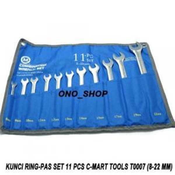 Kunci Pas 11-pc combination wrench set ( 8.9.10.11.12.13.14.15.17.19.22mm )