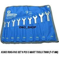 Jual 9-pc combination wrench set ( 7.8.10.11.12.13.14.15.17mm )