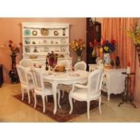 Jual Meja Ruang Makan Prancis Bentuk Oval