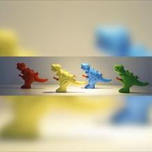 Mainan Plastik Pistol Air DInosaurus