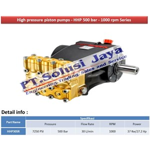 Sell Hydrotest pump 500 bar - High Pressure Plunger Pump from